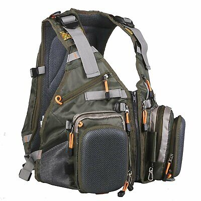 Maxcatch Fly Fishing Backpack Adjustable Size Mesh Fishing Vest Pack • 45.89£