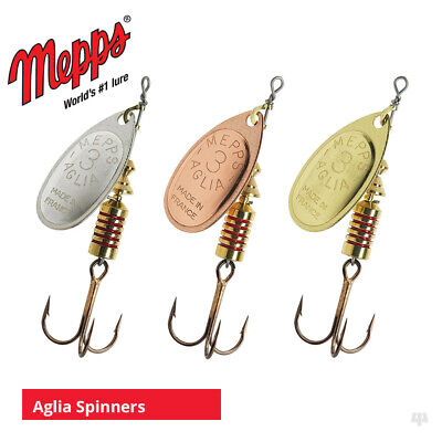 Mepps Aglia Spinners - Sea Trout Pike Perch Salmon Bass Fishing Lures Tackle • 5.30£