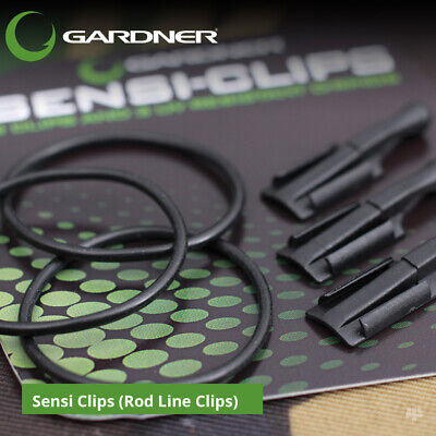 Gardner Tackle Sensi Clips (Rod Line Clips) - Carp Barbel Pike Coarse Fishing • 5.49£