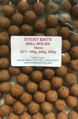 STICKY BAITS KRILL SHELF LIFE BOILIES TASTER PACKS In 16mm Or 20mm • 8.99£