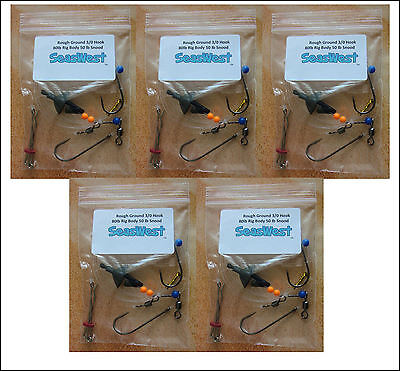 Rough Ground Pulley Pennel Rig   Cod, Ray, Conger, Bass • 8.25£