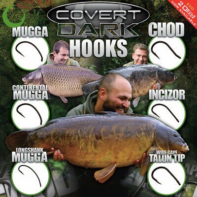 Gardner Tackle Covert Dark Hooks (Full Range) - Carp Barbel Tench Coarse Fishing • 4.50£