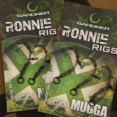 Gardner Tackle Ready Tied Ronnie Rigs (Pack Of 3) - Carp Pop Up Coarse Fishing • 4.99£