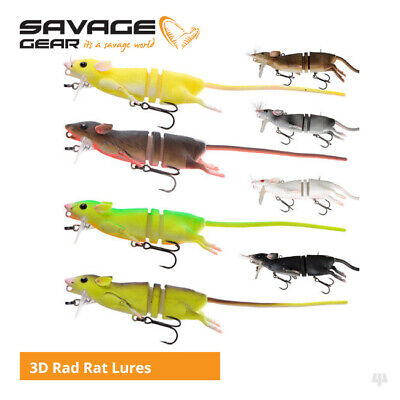 Savage Gear 3D Rad Rat Lures - Pike Bass Zander Musky Catfish Fishing Tackle • 18.50£