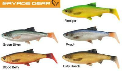 Savage Gear New 3D LB River Roach Paddle Tail Lures Pike Predator  Crazy Price • 4.99£