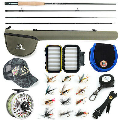 Maxcatch Extreme Fly Fishing Rod Combo Kit 3/4/5/6/7/8wt,Fly Rod And Reel Outfit • 77.99£