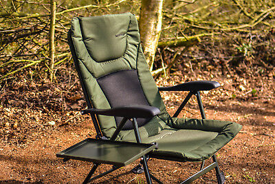 Fishing Chair - Padded Recliner Chair  *FREE SIDE TRAY* SALE PRICE • 64.99£