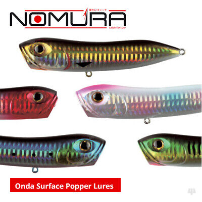 Nomura Onda Surface Popper Lures - Bass Wrasse Pike Zander Sea Fishing Tackle • 9.99£