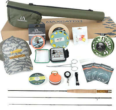 Maxcatch V-feather 6'/6'6''/7'/7'6'' 1-3wt Fly Rod And Reel Combo Outfit  • 135£