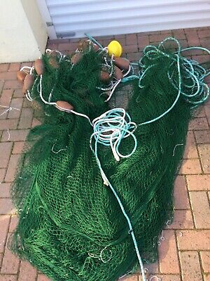 Sand Ell Trout Beach Boat Seine Net Lake Pond Management Weed Net Blocking Nets • 300£
