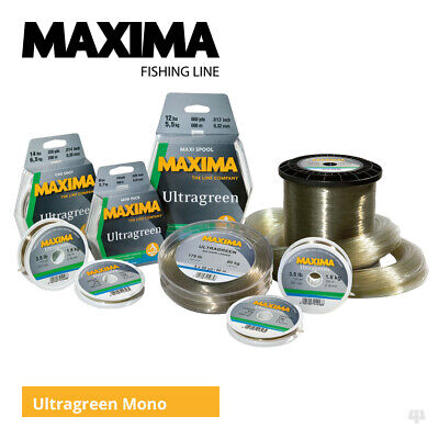 Maxima Ultragreen Mainline - Carp Pike Cod Coarse Sea Fishing Monofilament Line • 4.69£