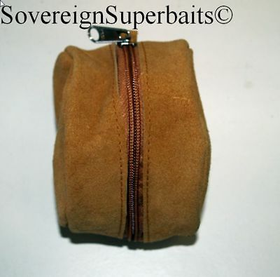Genuine Suede/brushed Pig Skin Reel Cases. Doubles & Singles Available • 10.99£