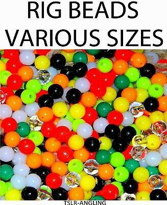 Sea Fishing Tackle Rig Beads - Attractor - All Colours And Sizes - Sea Pike • 2.99£