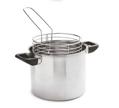 Tall&Deep Induction Stainless Steel Chip Pan With Robust Stainless Steel Basket • 15.97£