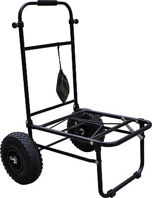 Folding Fishing Seatbox Trolley With Pneumatic Tyres, Match Fishing *sale Price* • 39.99£