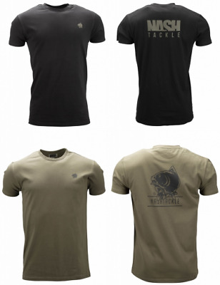 Nash Tackle T-Shirt - Black Or Green - All Sizes • 15.99£