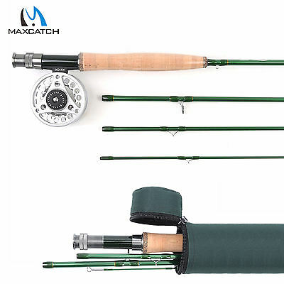 Maxcatch Fly Fishing Combo Kit 3-9WT Fast Action Carbon Fly Rod,Fly Fishing Reel • 65.40£
