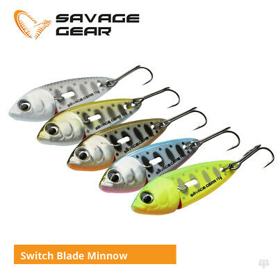 Savage Gear Switch Blade Minnow Lures - Pike Perch Trout Salmon Bass Sea Fishing • 6.50£