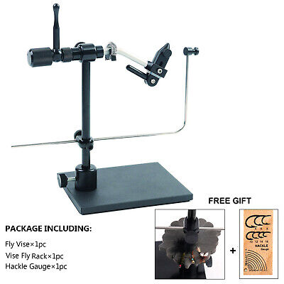 Maxcatch Rotary Fly Tying Vise Travel Alloy Fishing Tool Fly Fishing Tackle Kit • 85.99£