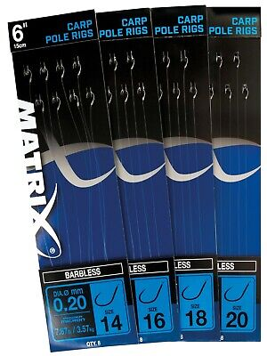 Matrix Hooks To Nylon Carp Pole Rigs *free Postage* • 2.85£
