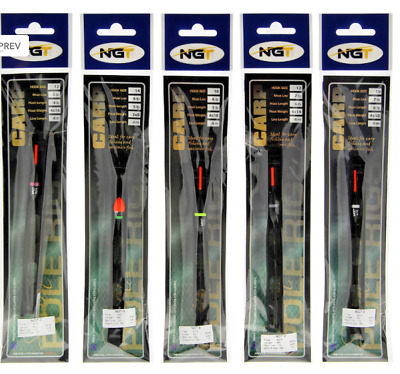 Pack Of 10 Ngt Assorted Pole Rigs (coarse, Carp Or Match) • 9.75£