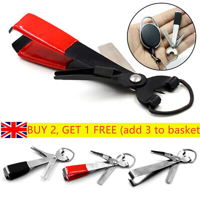 Portable Stainless Steel Quick Knot Tying Tool Line Cutter Hook  Fish Nippers ~ • 7.21£