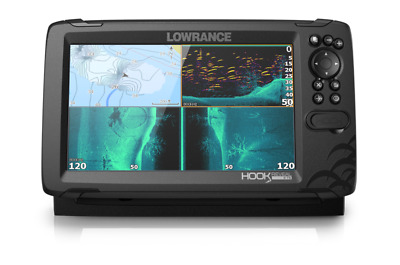Lowrance Hook Reveal 9 With Tripleshot Echo Sounder Transducer Fishfinder • 671.45£
