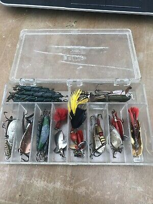 Box Of Vintage Fishing Lures , Spinners ,etc ( RECORD ) - All Shown In Photos • 40£