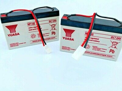 2 X Genuine Microcat/Technicat 6 Volt 7amp Hour Bait Boat Batteries 'YUASA' • 39.99£
