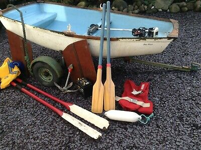 Boat Dinghy Project 8ft Outboard Oars Anchor Trailer GRP Fibreglass Tender Sail • 375£
