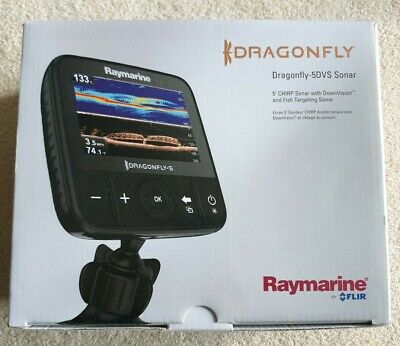 Raymarine Dragonfly 5DVS Chirp And Down Vision With Transducer Used Twice Only • 90£
