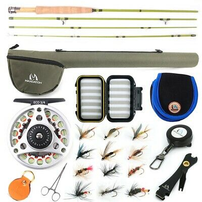 Maxcatch Fly Fishing Rod Combo Kit 2/3wt,Fly Rod And Reel Outfit 6'/6'6''/7'/7'6 • 76.59£