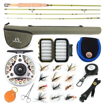Maxcatch Ultra-lite Fly Fishing Rod Combo Kit 2/3wt,Fly Rod And Reel Outfit • 76.59£
