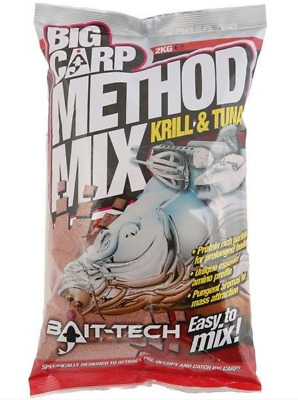 Bait Tech NEW Big Carp Method Mix Krill & Tuna Fishing Groundbait 2kg • 8.95£