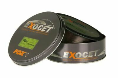 Fox Exocet Trans Khaki Monofilament Reel Line Carp Fishing All Breaking Strains • 22.99£
