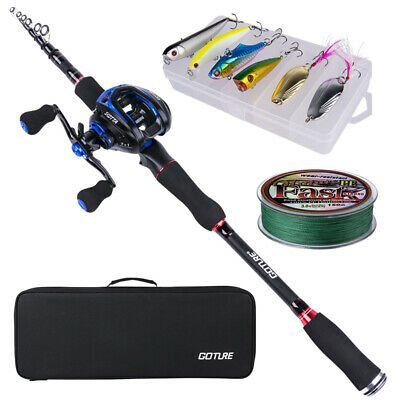 Goture Fishing Rod Combo Casting Rod Baitcasting Reel Travel Lure Rod Line Lure • 105.99£