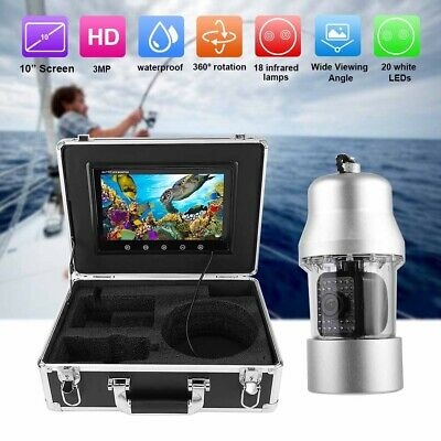 10in 3MP Underwater Video Camera Fish Finder 38LEDS 360° 100m Cables Waterproof • 313.03£