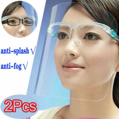 2-20PCS Full Face Shield Cover Anti Fog Screen Transparent HD Clear Visor✅ ✅ ✅ • 7.99£