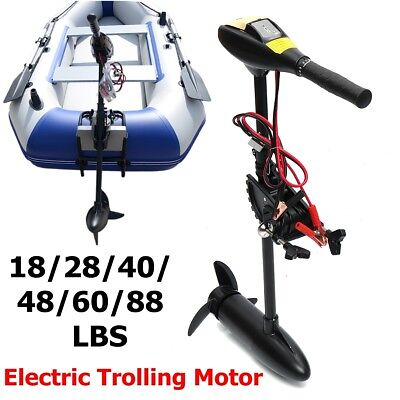 18 - 88LBS 12/24V Electric Outboard Trolling Thrust Motor Boat Engine Or   U . • 139.99£