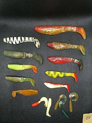 Mixed Set Of Soft Lures, Minnow, Cannibal, Shad • 3.99£