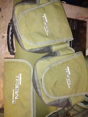 Shimano Tribal Extreme 12ft Sling And Two Reel Cases. • 8.50£