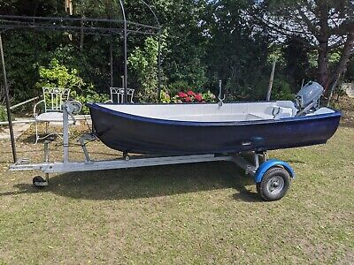Bonwitco Boat 10ft Yamaha 3HP Outboard Engine And Trailer • 775£