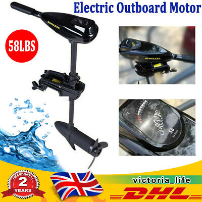 Electric Outboard Motor 58LBS Trolling Drive Fishing Boat Engine Short Shaft • 149£