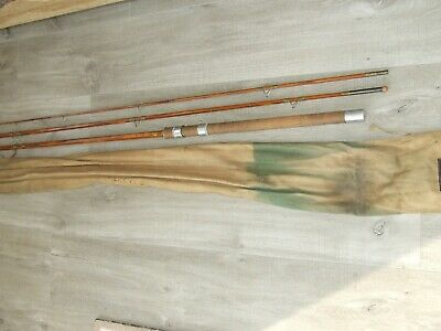 F.t. Williams 3 Piece Cane Fishing Rod  The Dorset  With Cloth Case Immaculate • 31£