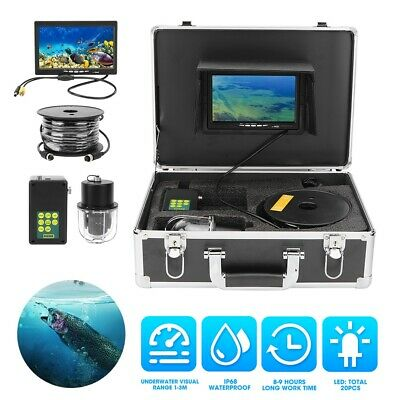 7in TFT LCD Fish Finder 800TVL Underwater Camera DVR Video Recoder 20LEDS +50m • 312.88£