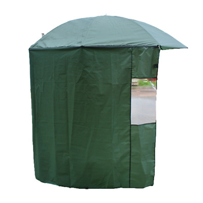 2m (79 ) Work Fishing Tilt Umbrella Tent With Curtain Carp Fishing Shelter • 25.85£