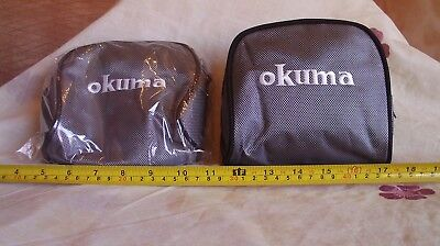 Okuma Reel Case / Pouch - Padded - Fits Centrepin , Match Reel  X 2 • 17£