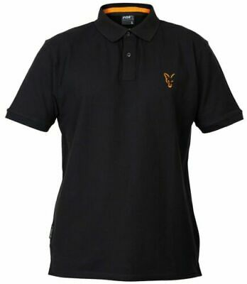 Fox NEW Collection Black And Orange Mens Fishing Polo Shirt *All Sizes*  • 19.99£