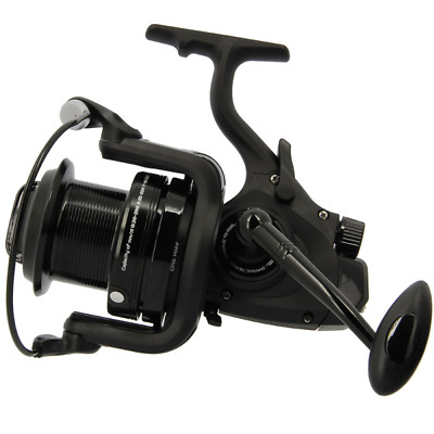 NGT 7000 Dynamic Big Pit Carp Reel 10BB Black Spare Spool Freespool Bait Runner • 39.95£