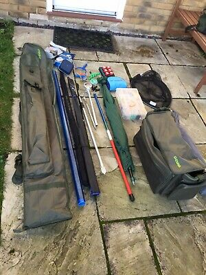 Complete Course Fishing Kit, Feeder, Waggler, Carp, Commercial, Rods, Reel • 95£